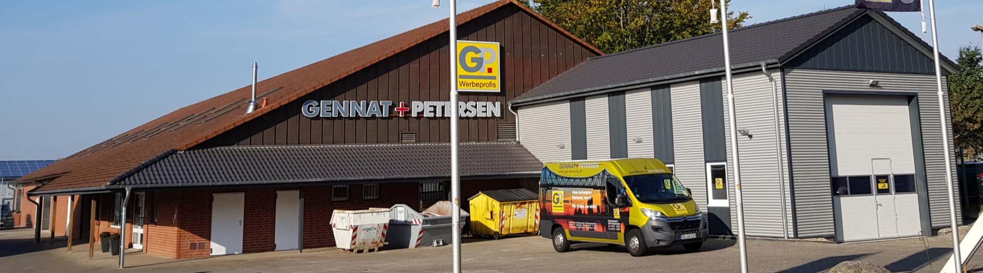 Neues Gebäude | Gennat + Petersen Werbung