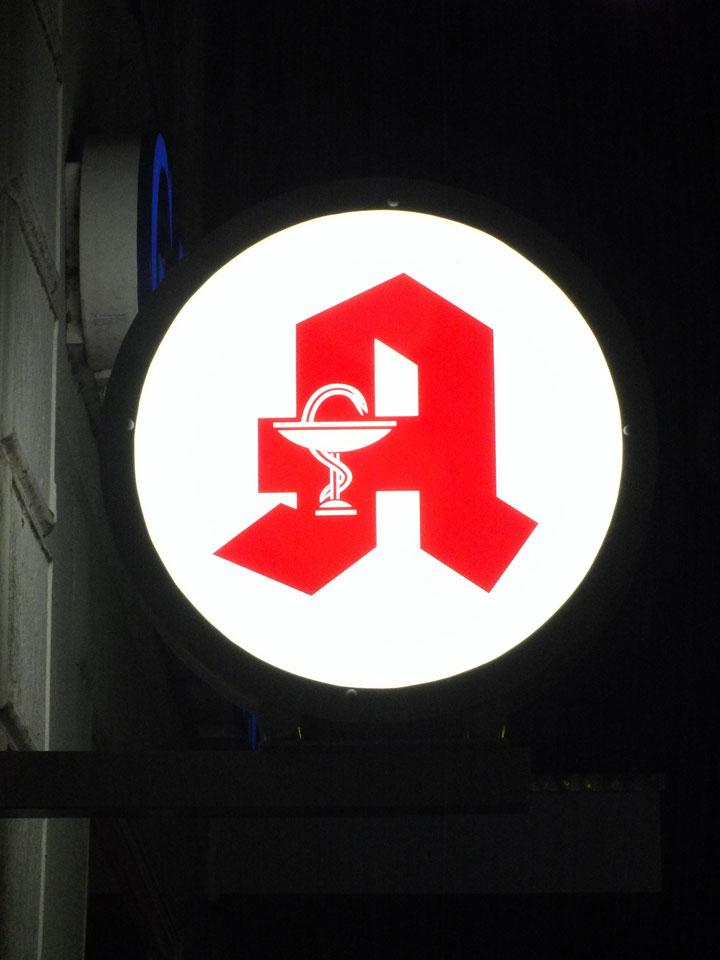 Apotheke - Leuchtkästen | Gennat + Petersen Werbung