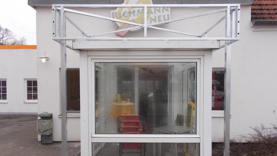 Bäckerei Richmann & Neu - Aluminiumbau | Gennat + Petersen Werbung