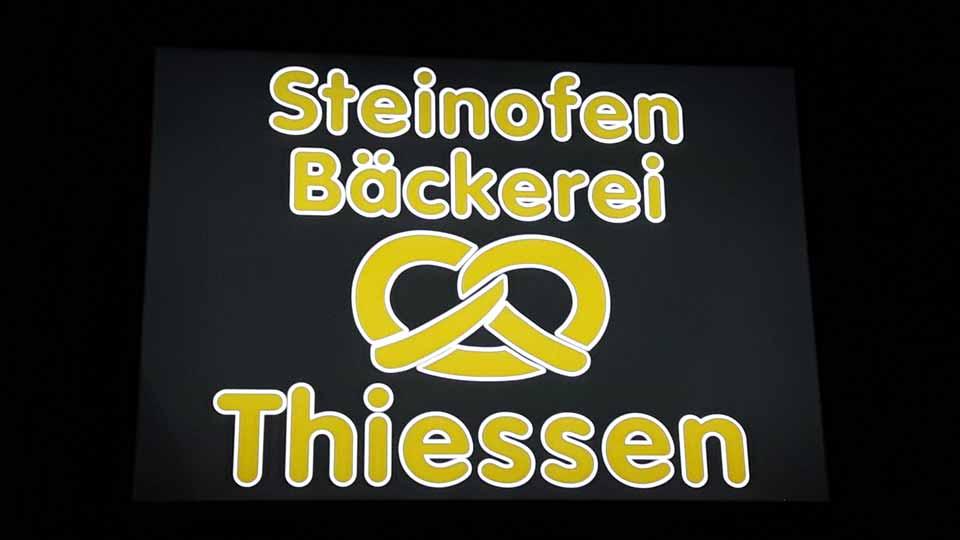 Bäckerei Thiessen - Leuchtkästen | Gennat + Petersen Werbung