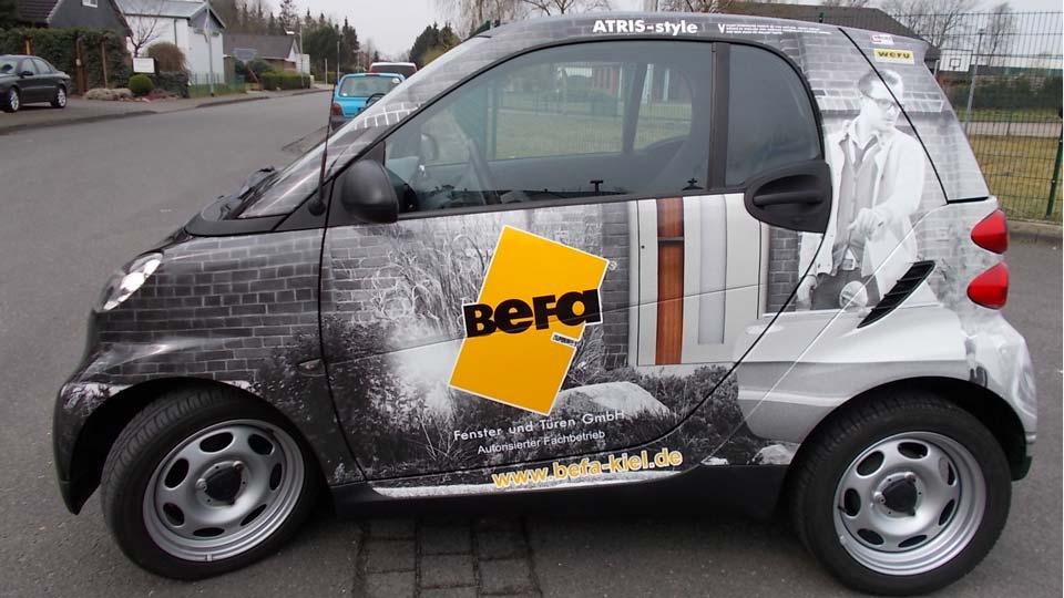 BeFa - Fahrzeugbeschriftung - Fahrzeugfolierung | Gennat + Petersen Werbung