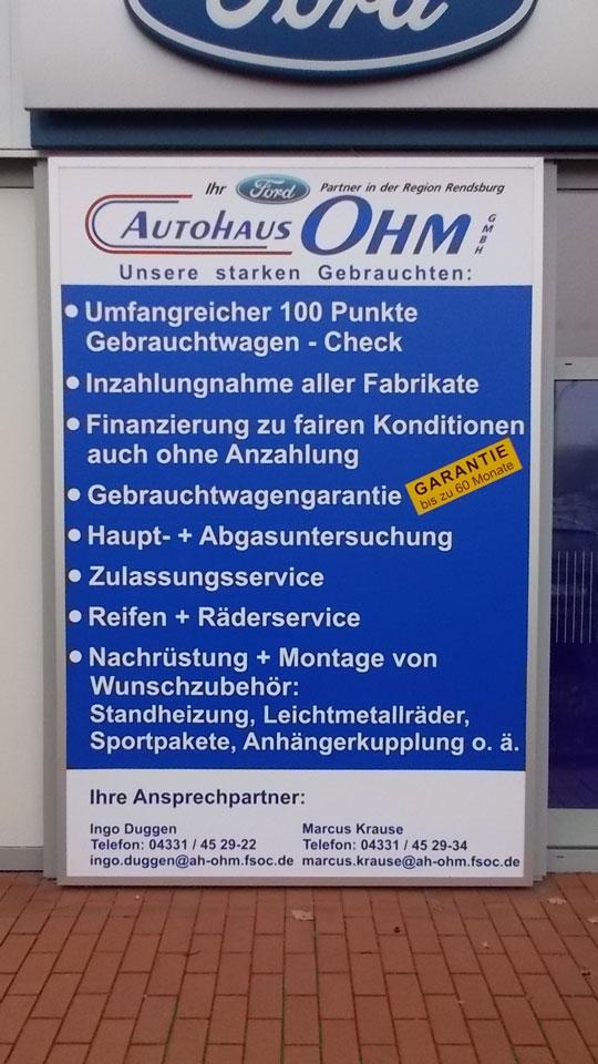 Ford Autohaus Ohm - Leuchtkasten | Gennat + Petersen Werbung