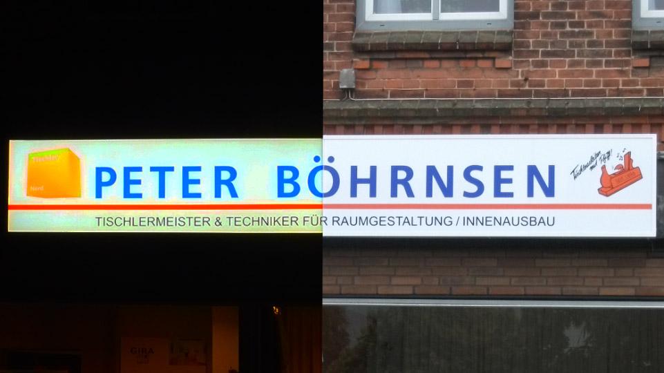 Peter Böhrnsen - Leuchtkästen | Gennat + Petersen Werbung