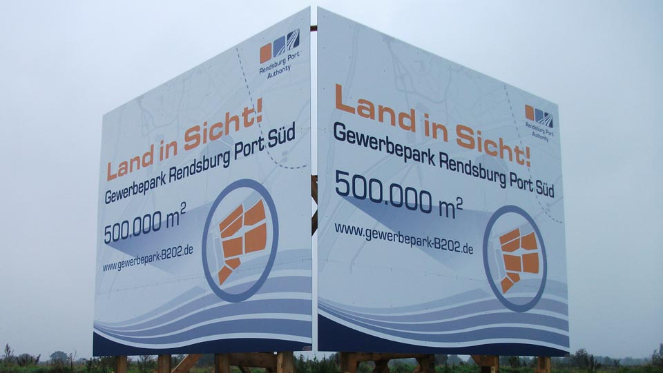 Rendsburg Port Authority - Bauschilder | Gennat + Petersen Werbung