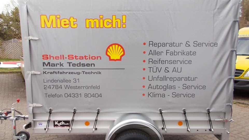 Shell-Station - Fahrzeugbeschriftung - Fahrzeugfolierung | Gennat + Petersen Werbung