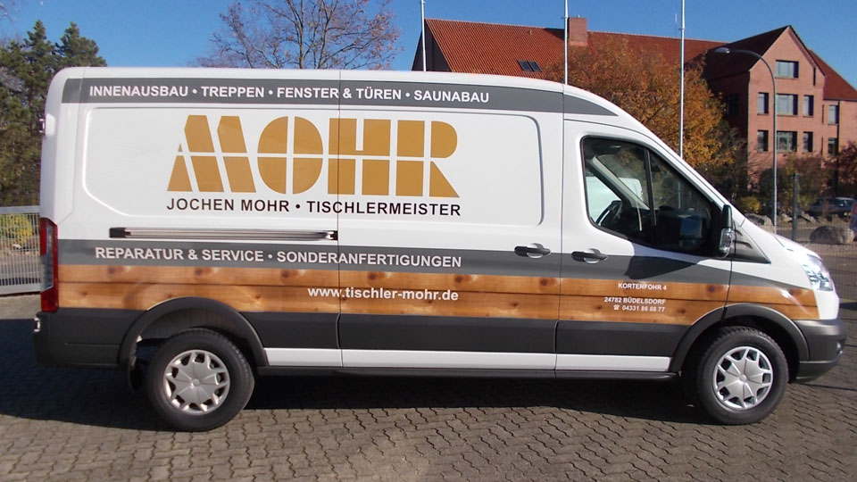 Tischlerei Mohr - Fahrzeugbeschriftung - Fahrzeugfolierung | Gennat + Petersen Werbung