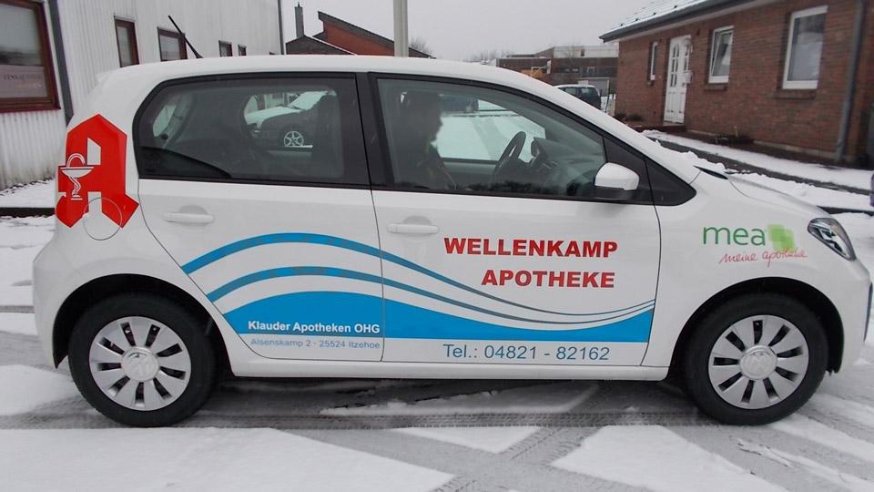 Wellenkamp Apotheke - Fahrzeugbeschriftung - Fahrzeugfolierung | Gennat + Petersen Werbung