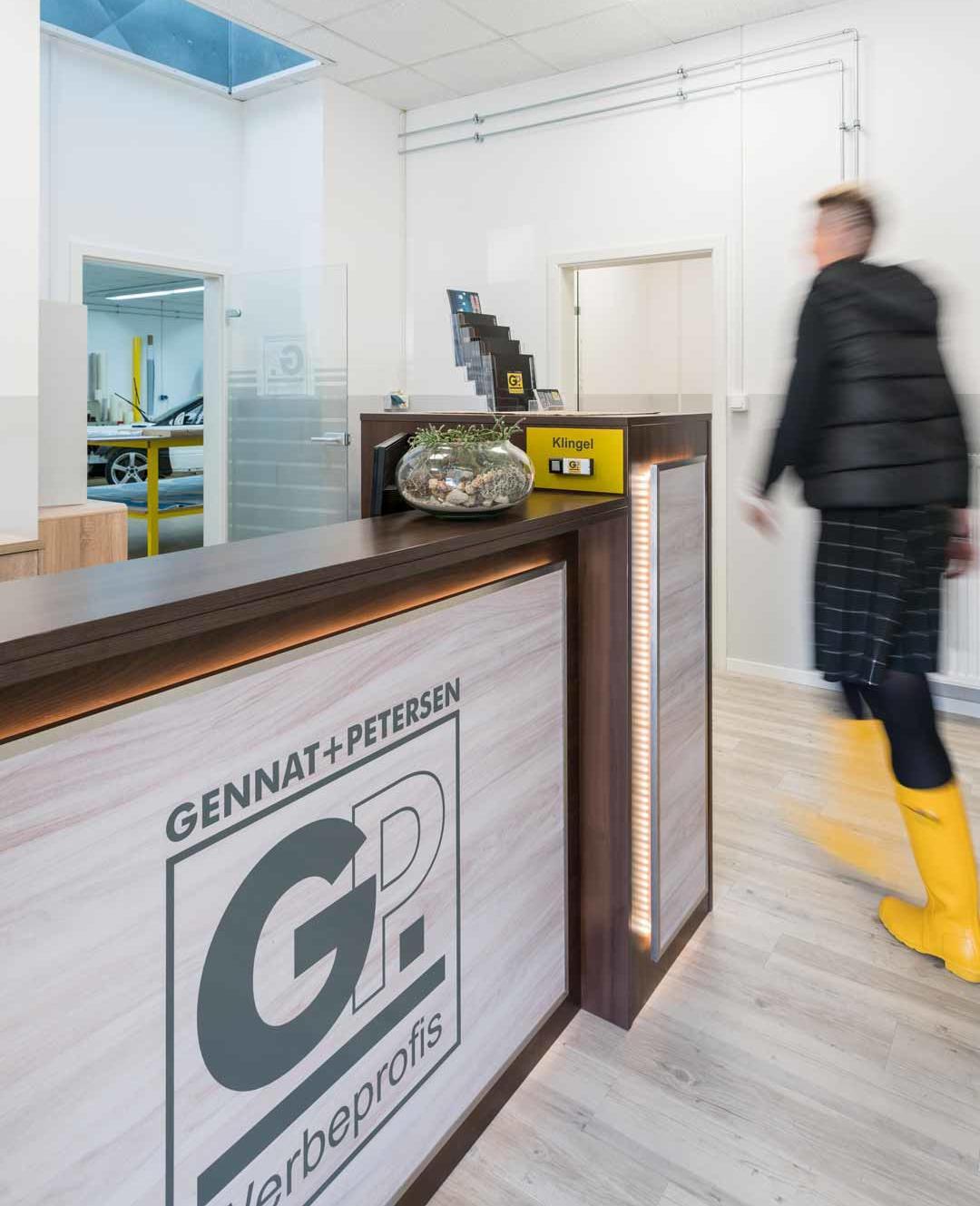 Empfang - Das Team | Gennat + Petersen Werbung